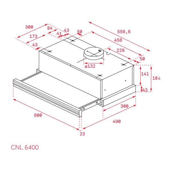 Kích thước máy hút mùi CNL 6400