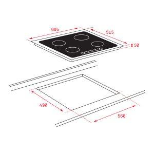 Kích thước bếp từ Teka ITF 6320