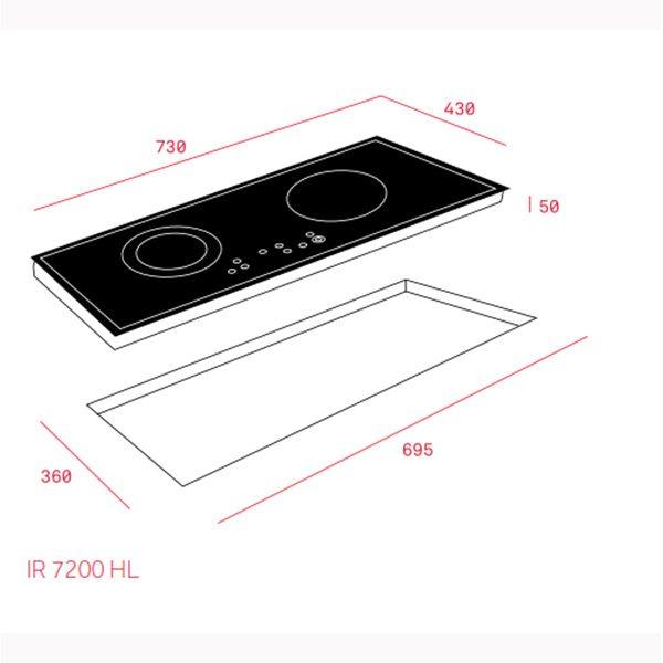 Kích thước bếp từ Teka IZ 7200 HL