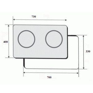 Kích thước bếp điện từ Faster FS 2SIR Tây Ban Nha