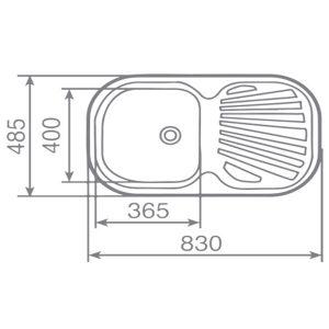 Kích thước chậu rửa bát Teka STYLO 1B 1D