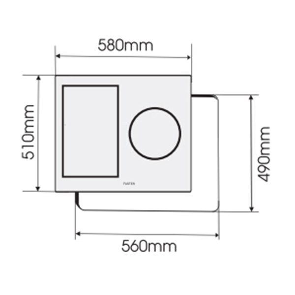 Kích thước bếp điện từ Faster Inverter 360
