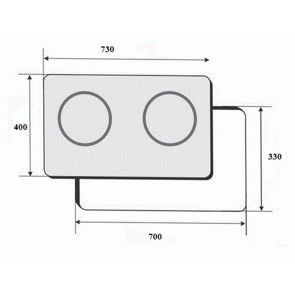 Kích thước bếp điện từ Tây Ban Nha Faster FS MIX288