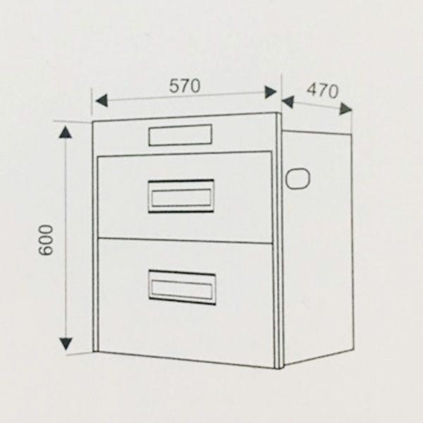 Kích thước lắp đặt máy sấy bát Faster FS A21