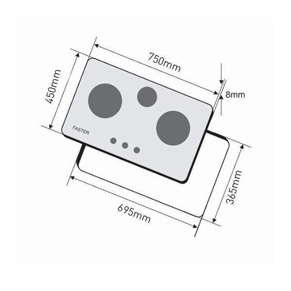 Bếp ga âm Faster FS – 302GB
