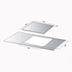 Kích thước bếp từ Kocher DI-735S