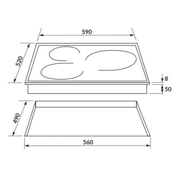 Kích thước bếp từ Rosieres RPI342MM