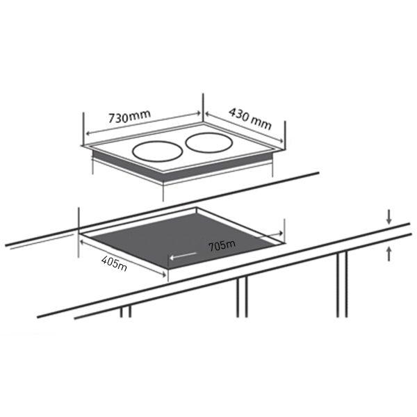 Kích thước bếp từ Spelier SPE-IC928