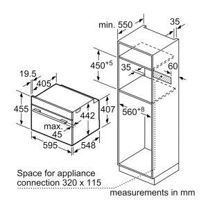 Kích thước lò nướng đa năng Bosch CSG656RS1