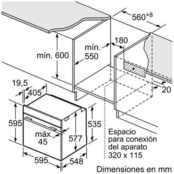 Kích thước lò nướng Bosch HBN231E2