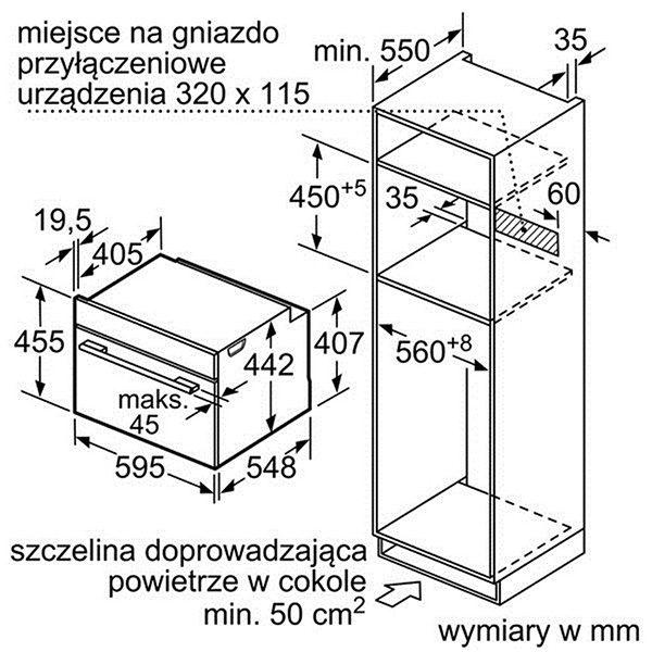 Kích thước lò nướng đa năng Bosch CMG636BS1