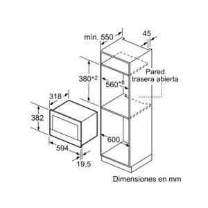 Kích thước lò vi sóng Bosch BFL634GW1