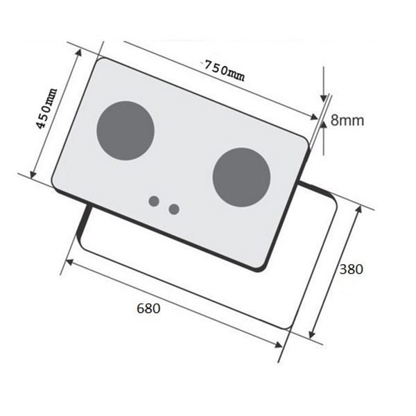 Kích thước bếp ga âm Faber FB-2SMC