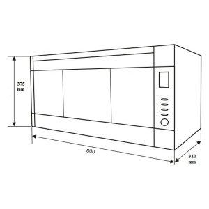 Kích thước máy sấy bát Binova BI-666-NEO