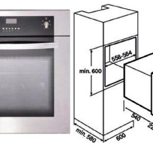 Kích thước lò nướng Binova BI-66-SS