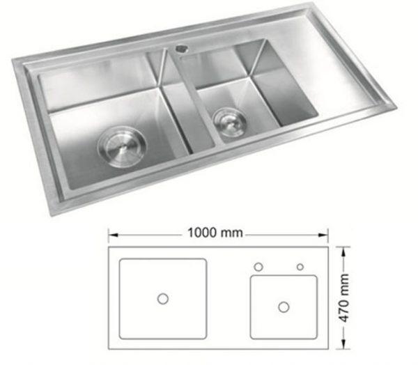 Kích thước chậu rửa bát cao cấp AMTS-10047AM