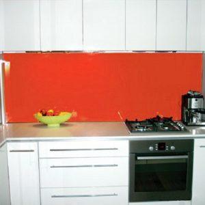 Kính ốp bếp màu cam 01