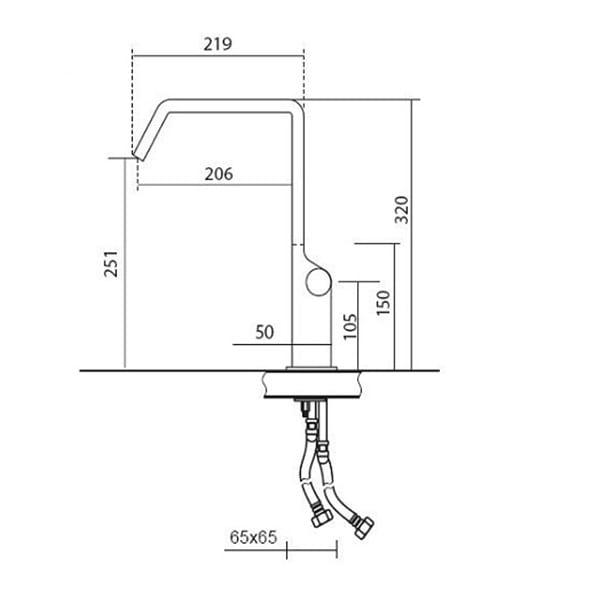 Kích thước vòi rửa bát CM Acquamix-9237