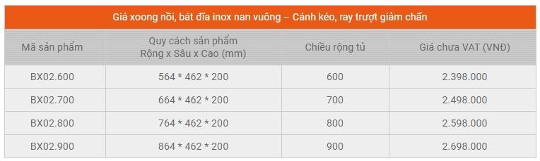 Giá bát đĩa xoong nồi inox nan vuông Garis BX02.600