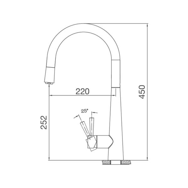 Vòi rửa bát Malloca K095-S