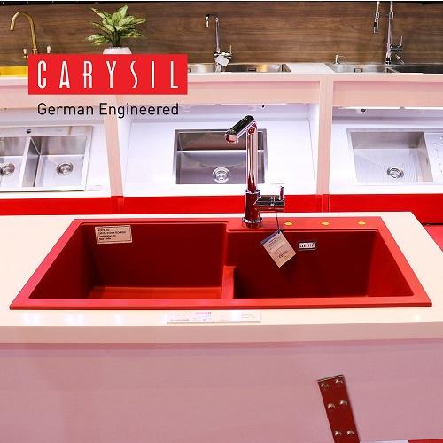 Chậu rửa bát đá nhân tạo Carysil TIP2 Red