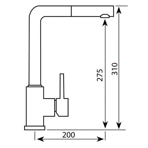 Kích thước vòi rửa bát Argo i-2385