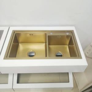 Chậu rửa bát mạ vàng MKRB-8245GLA